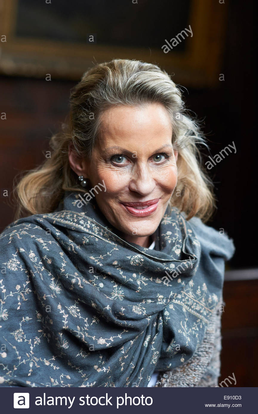 Leonie Frieda Historian and Biographer and  writer  at Bodleian Convocation House  at The Oxford  Literary Festival - Stock Image