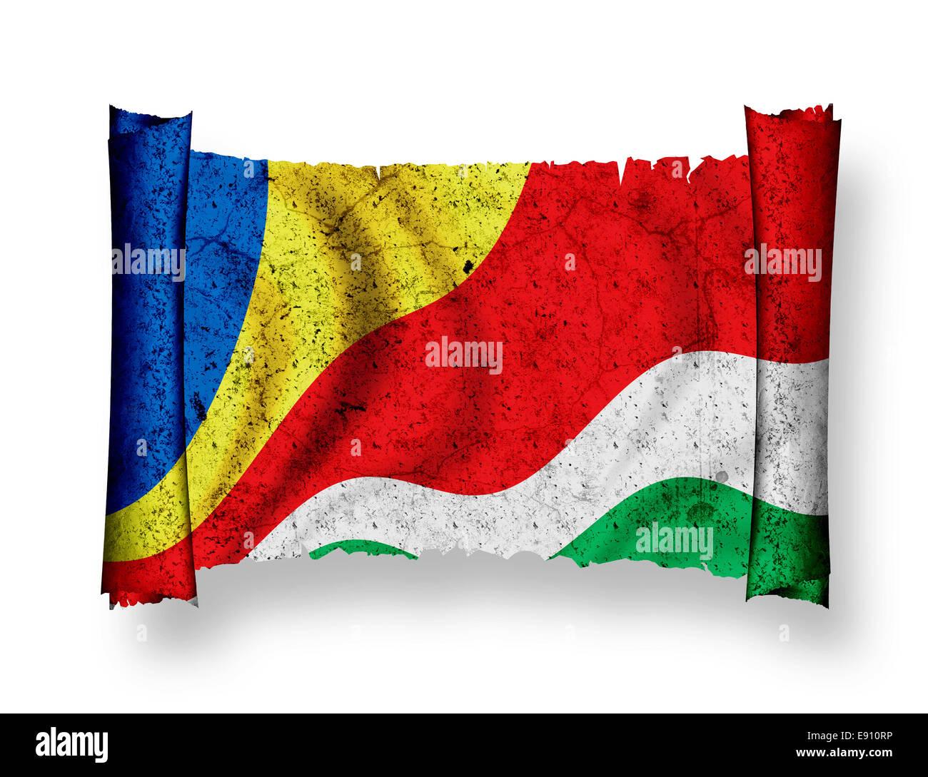 Flag of Seychelles - Stock Image