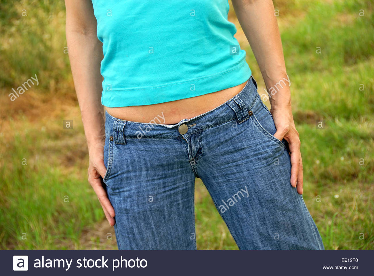 Slim woman body part - Stock Image
