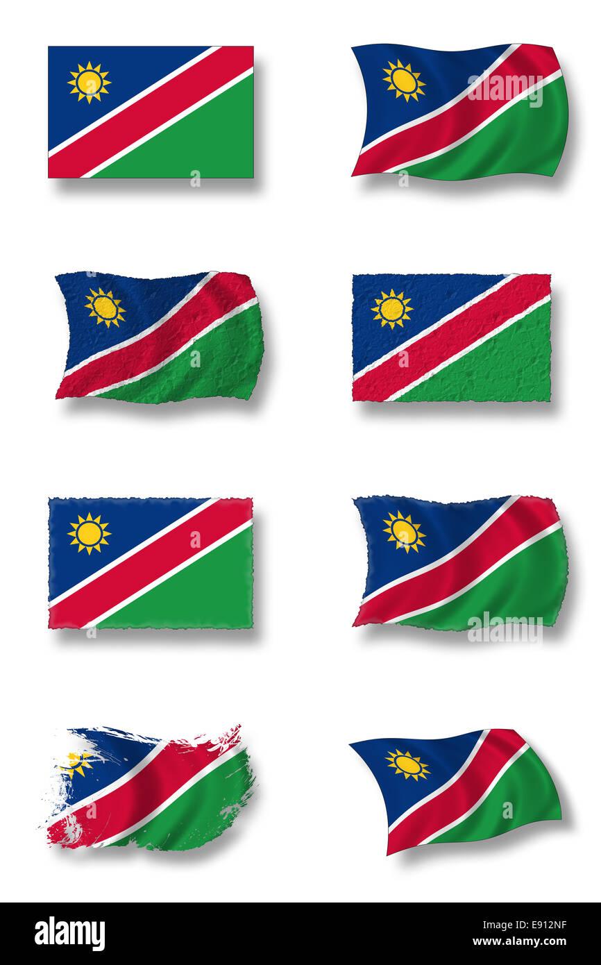 Flag of Namibia - Stock Image