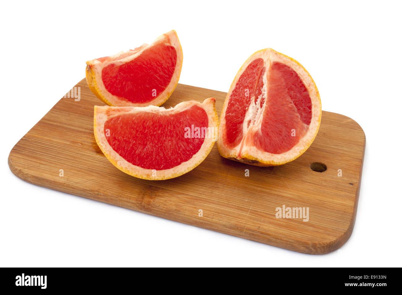 Grapefruit slices - Stock Image