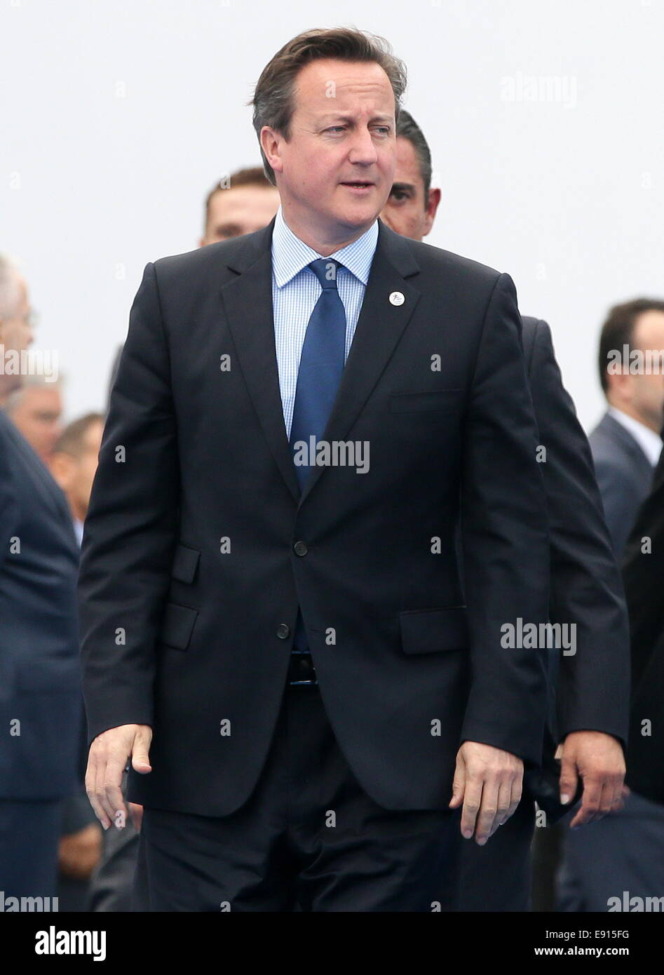 Milan, Italy. 17th Oct, 2014. British prime minister David Cameron arrives at the 10th Asia-Europe Meeting (ASEM) at the Milan Congress Centre (MiCo). Credit:  Mikhail Metzel/TASS/Alamy Live News Stock Photo