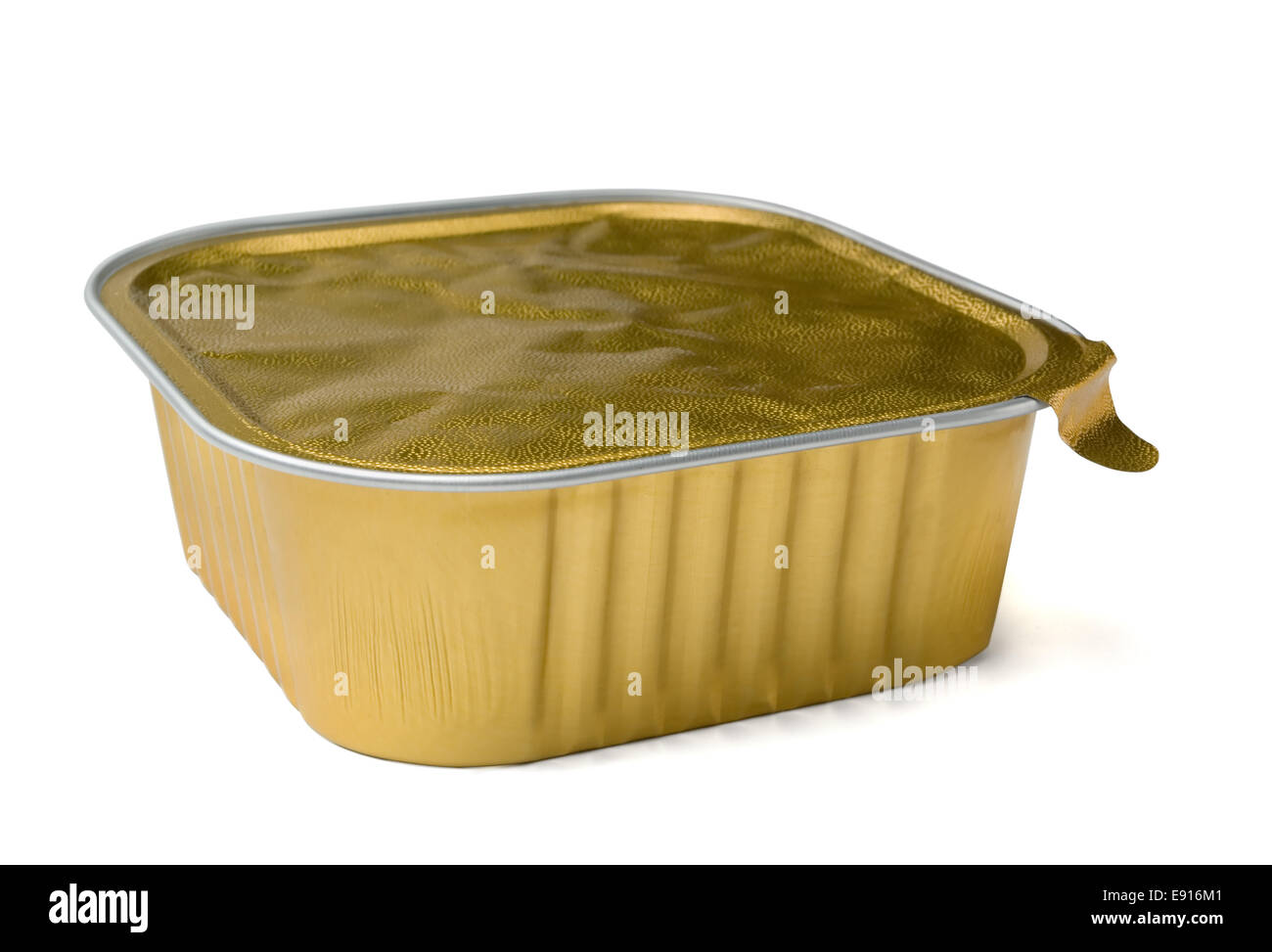 Food foil container - Stock Image