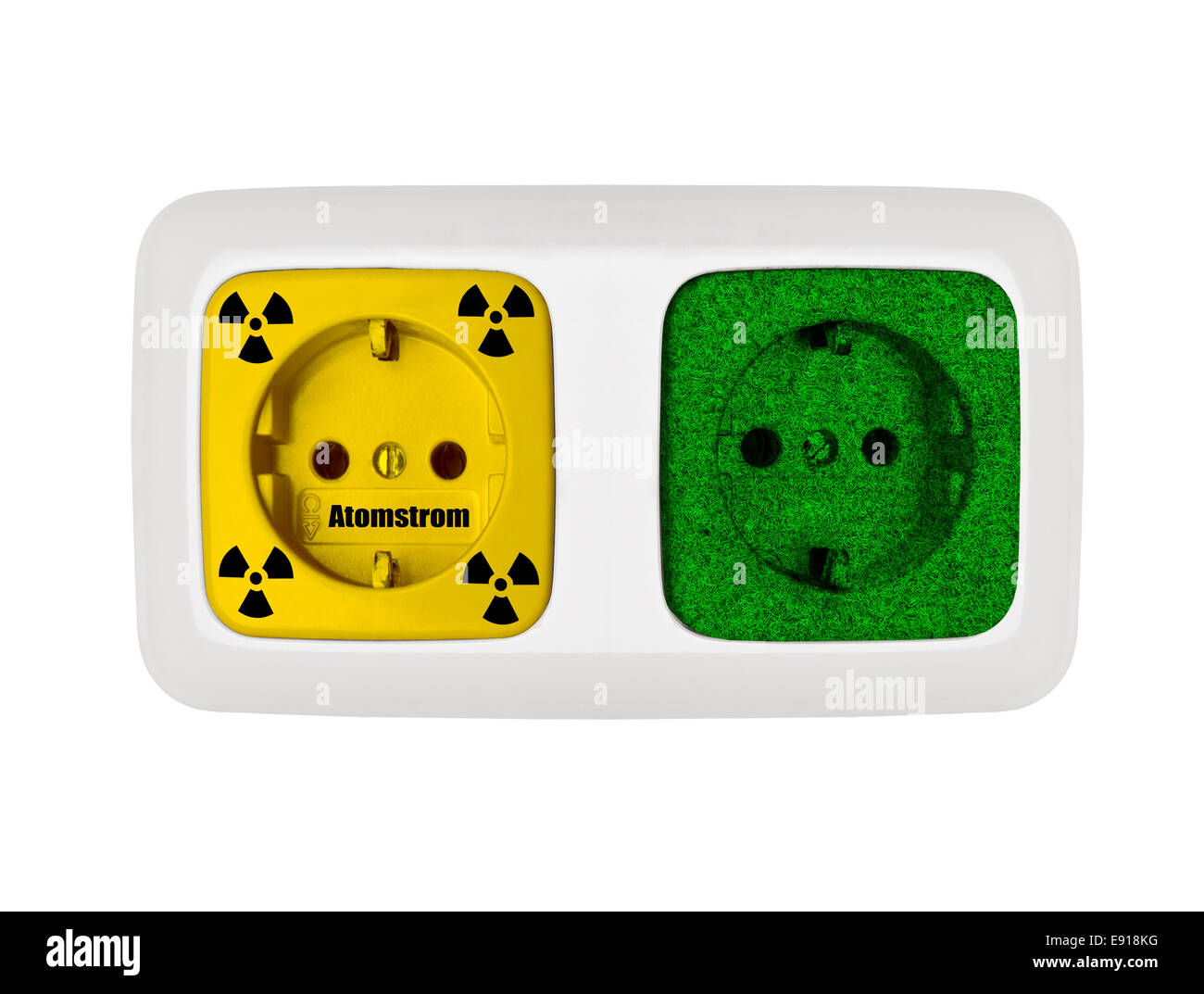 eco-power against nuclear power - Stock Image