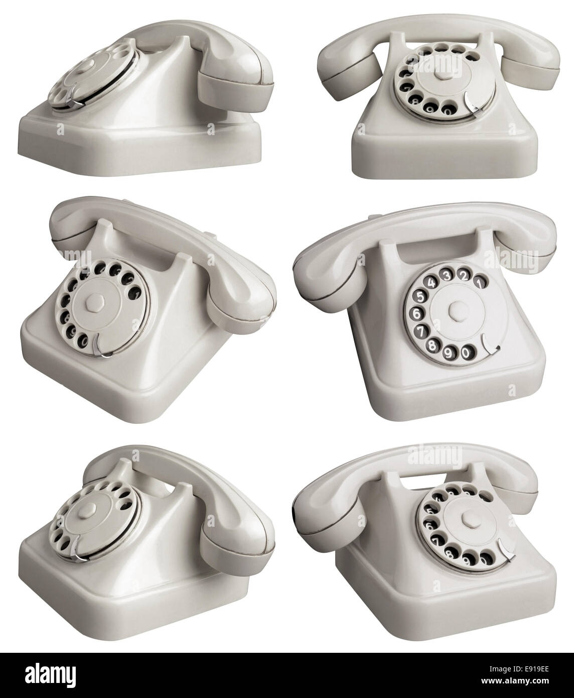 Rotary Telephones - Stock Image