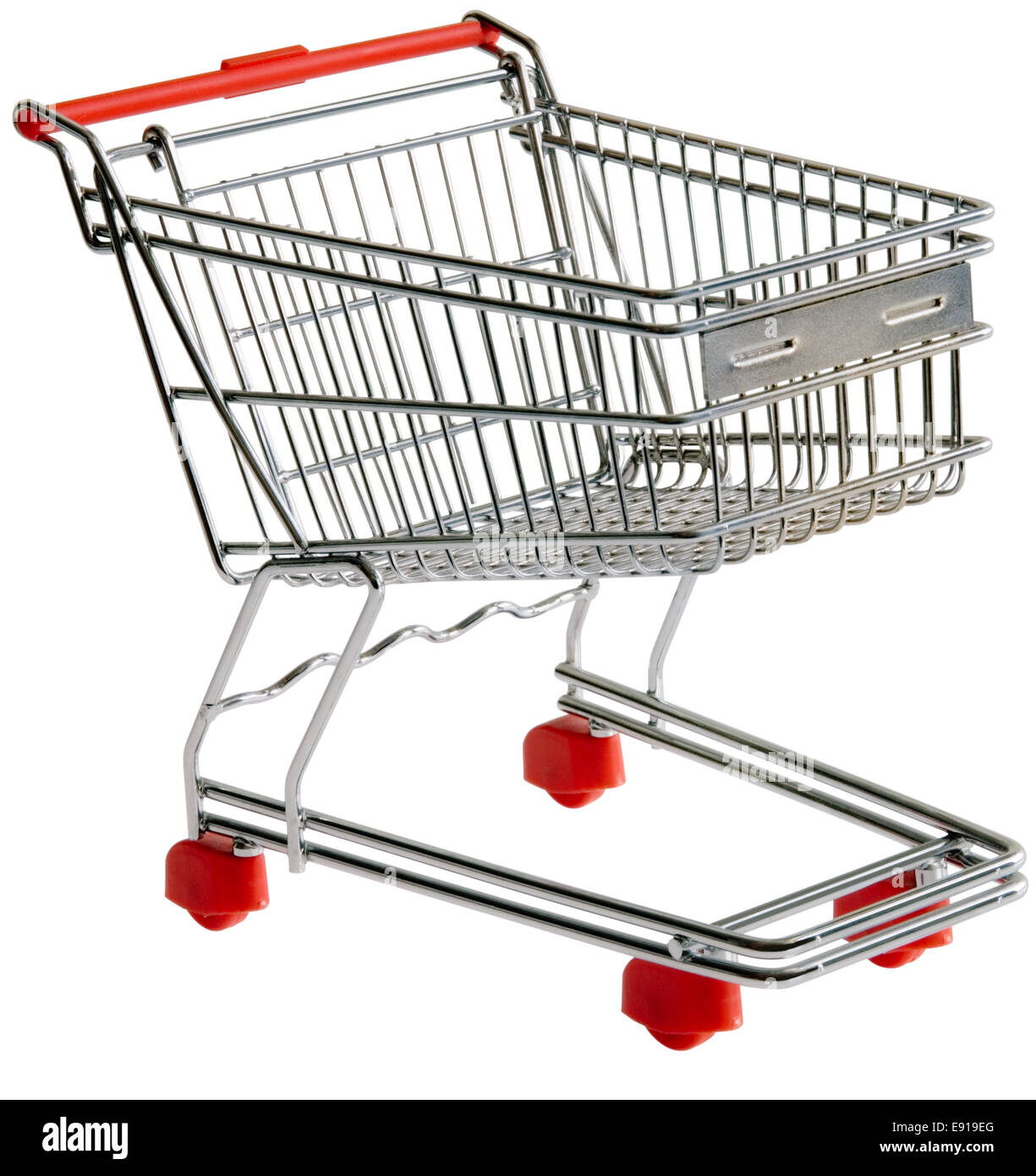 Shopping trolley cutout - Stock Image