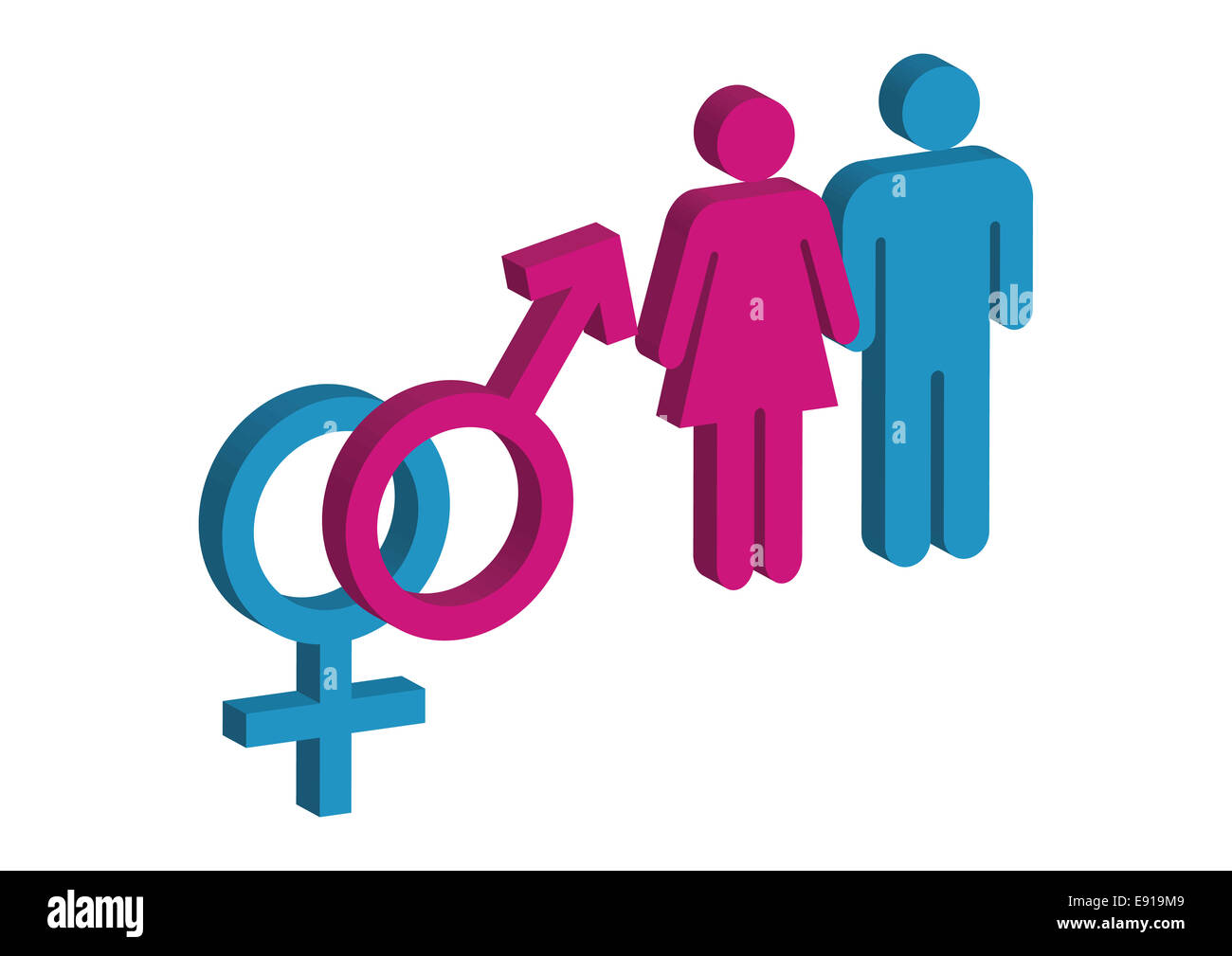 Male and Female 2d - Stock Image