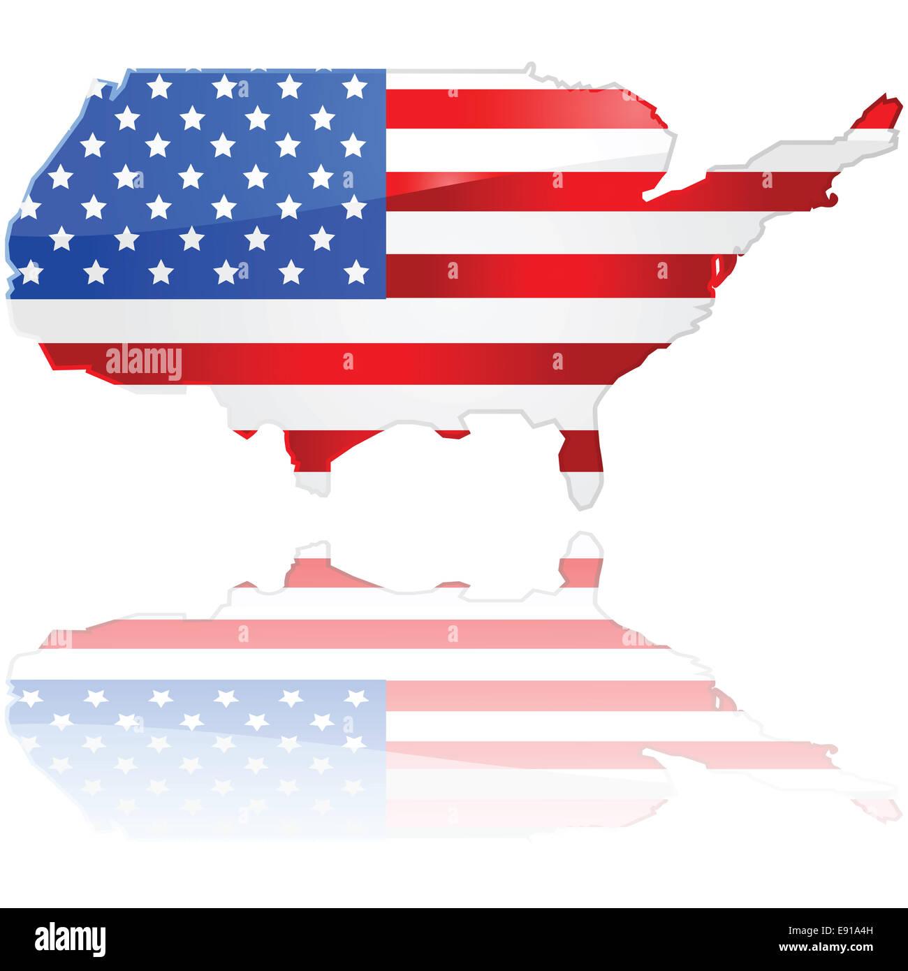 Usa Map Flag Stock Photos & Usa Map Flag Stock Images - Alamy
