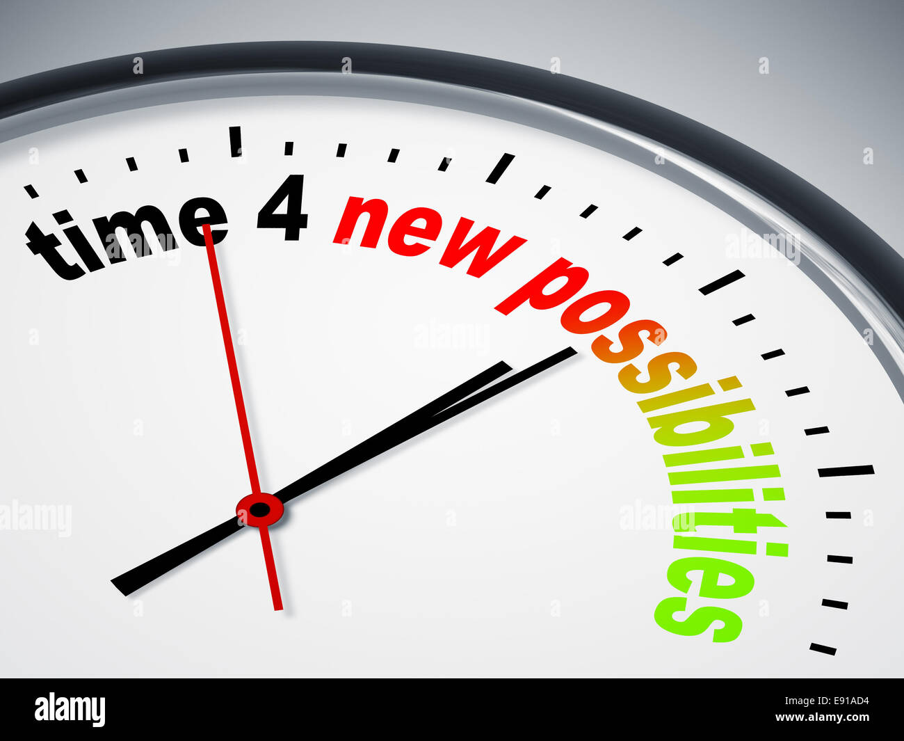 time 4 new possibilities - Stock Image