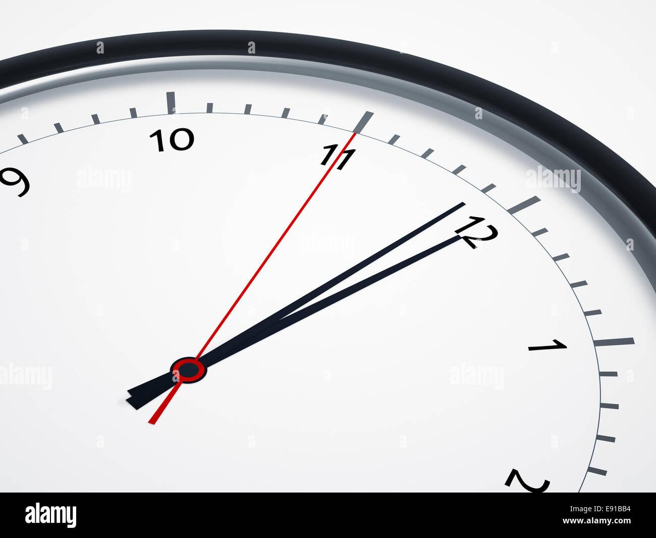 five seconds to twelve - Stock Image