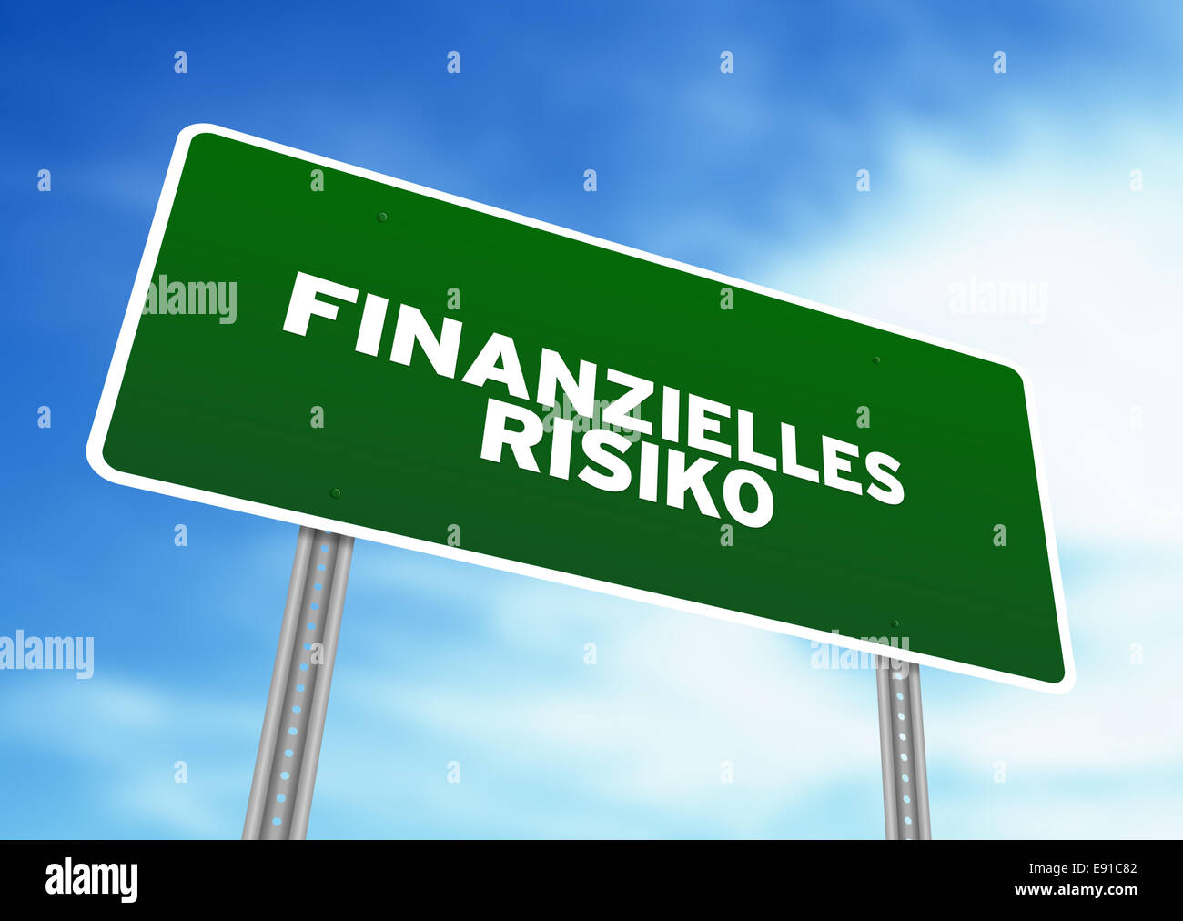 Financial Risk Highway Sign - Stock Image