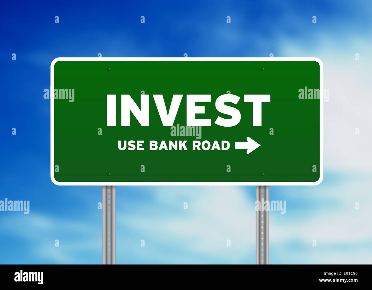 Invest Street Sign - Stock Image