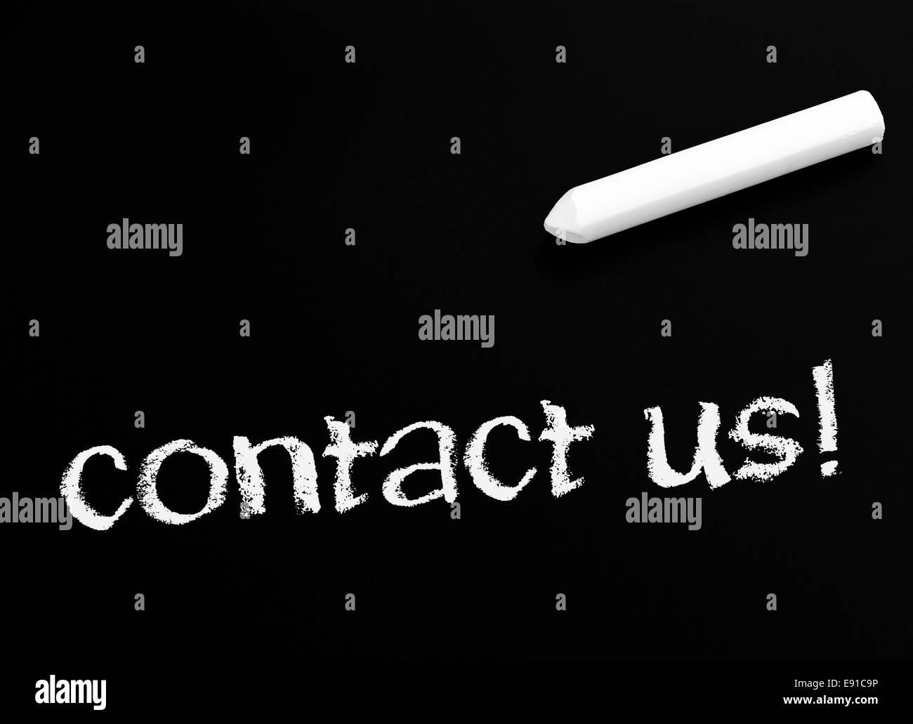contact us ! Stock Photo