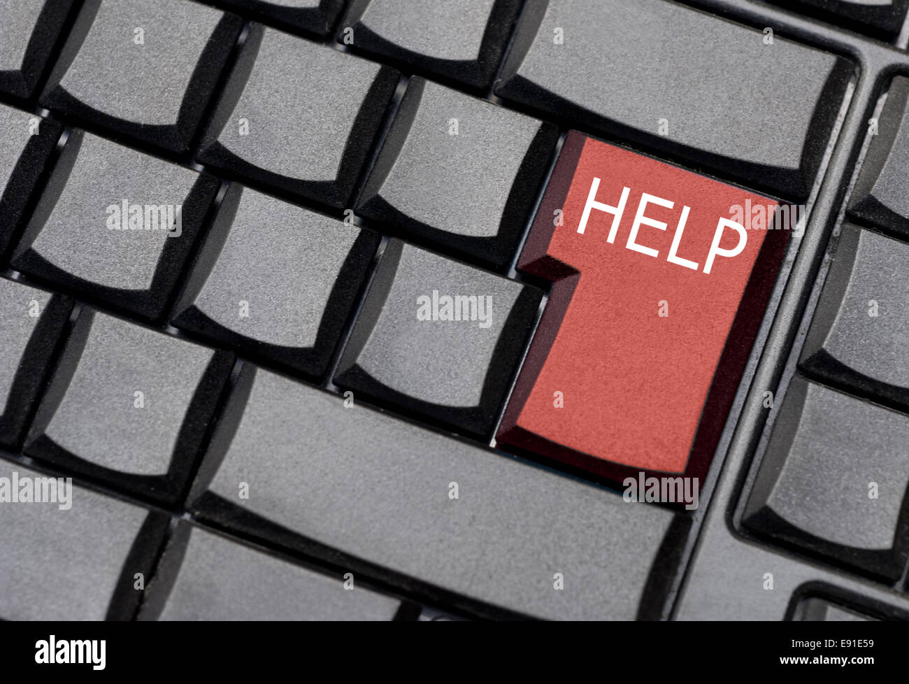 help computer key - Stock Image
