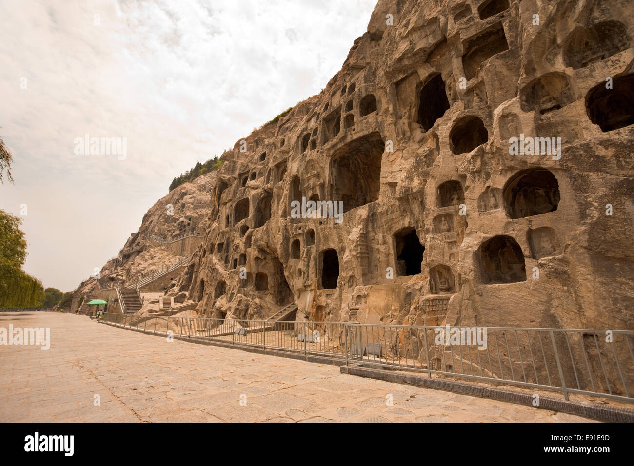 Carvings Caves Longmen Grottoes - Stock Image