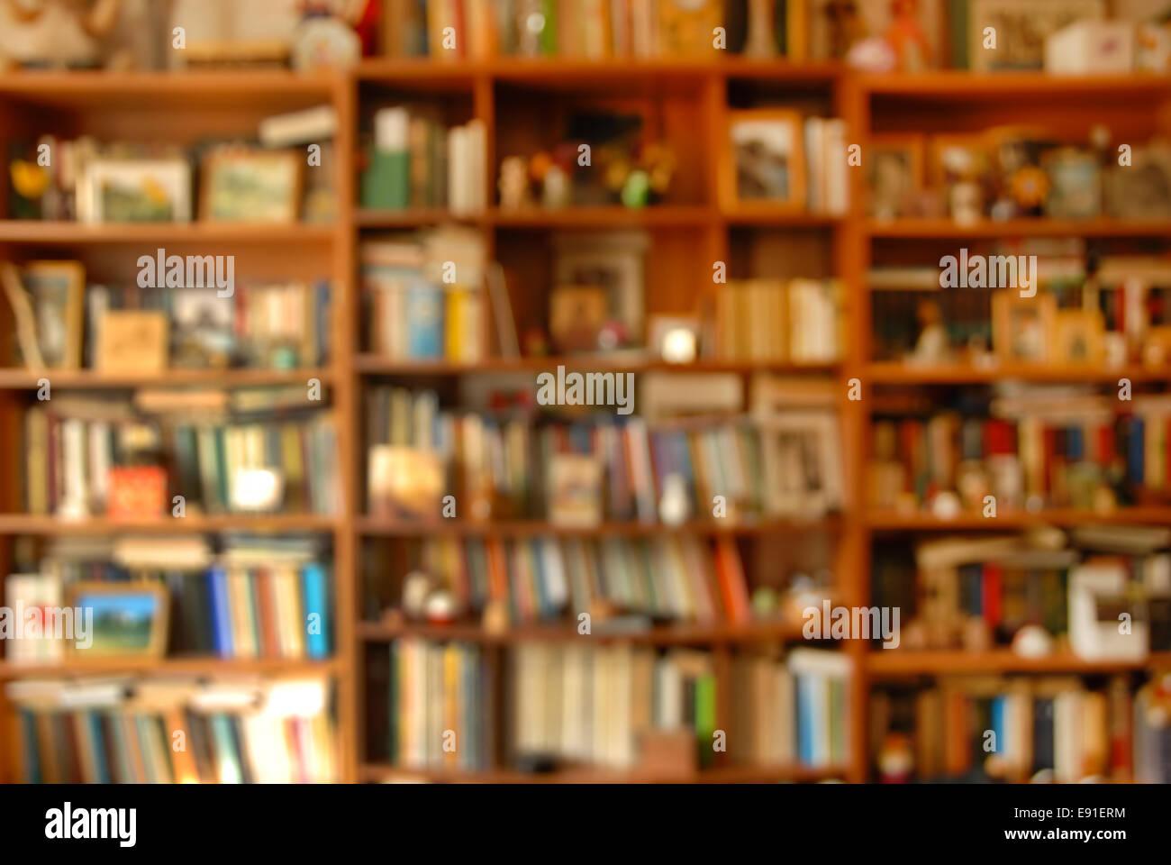 Book shelves - Stock Image