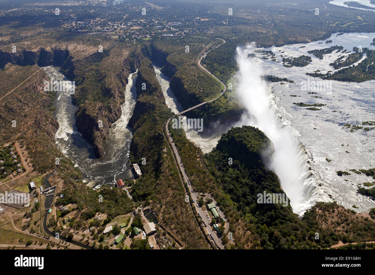 Airs picture of the Victoria Falls - Stock Image
