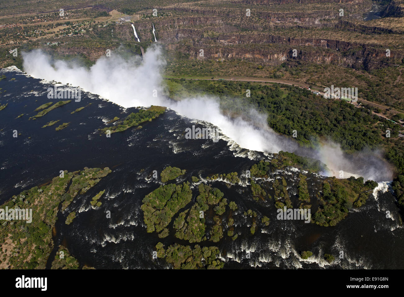 Airs picture of the Victoria Falls Stock Photo