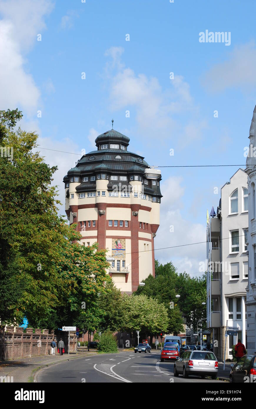 water tower Mönchengladbach - Stock Image