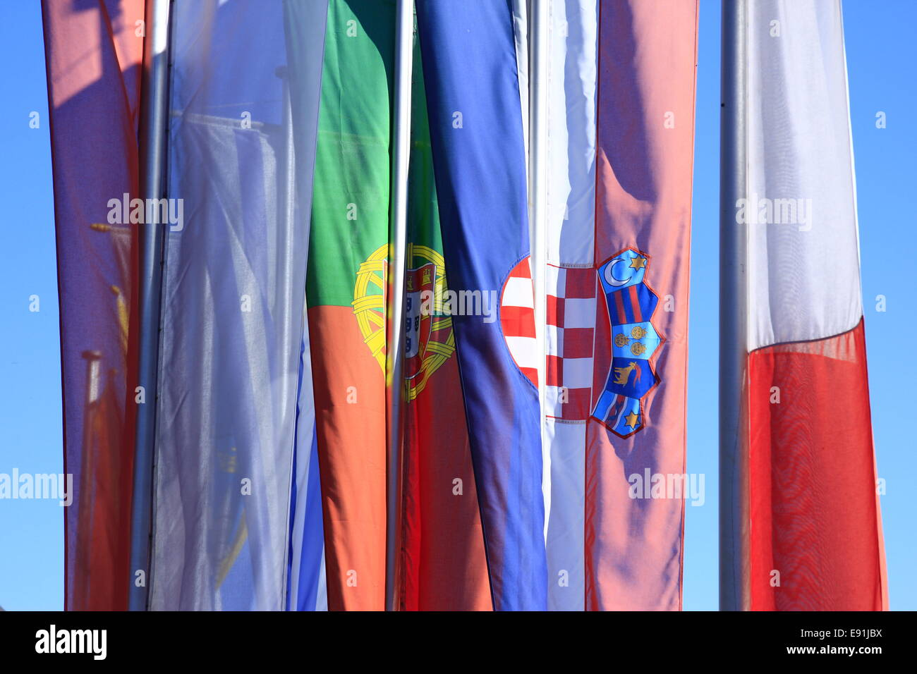 Flags of countries of the European Union - Stock Image