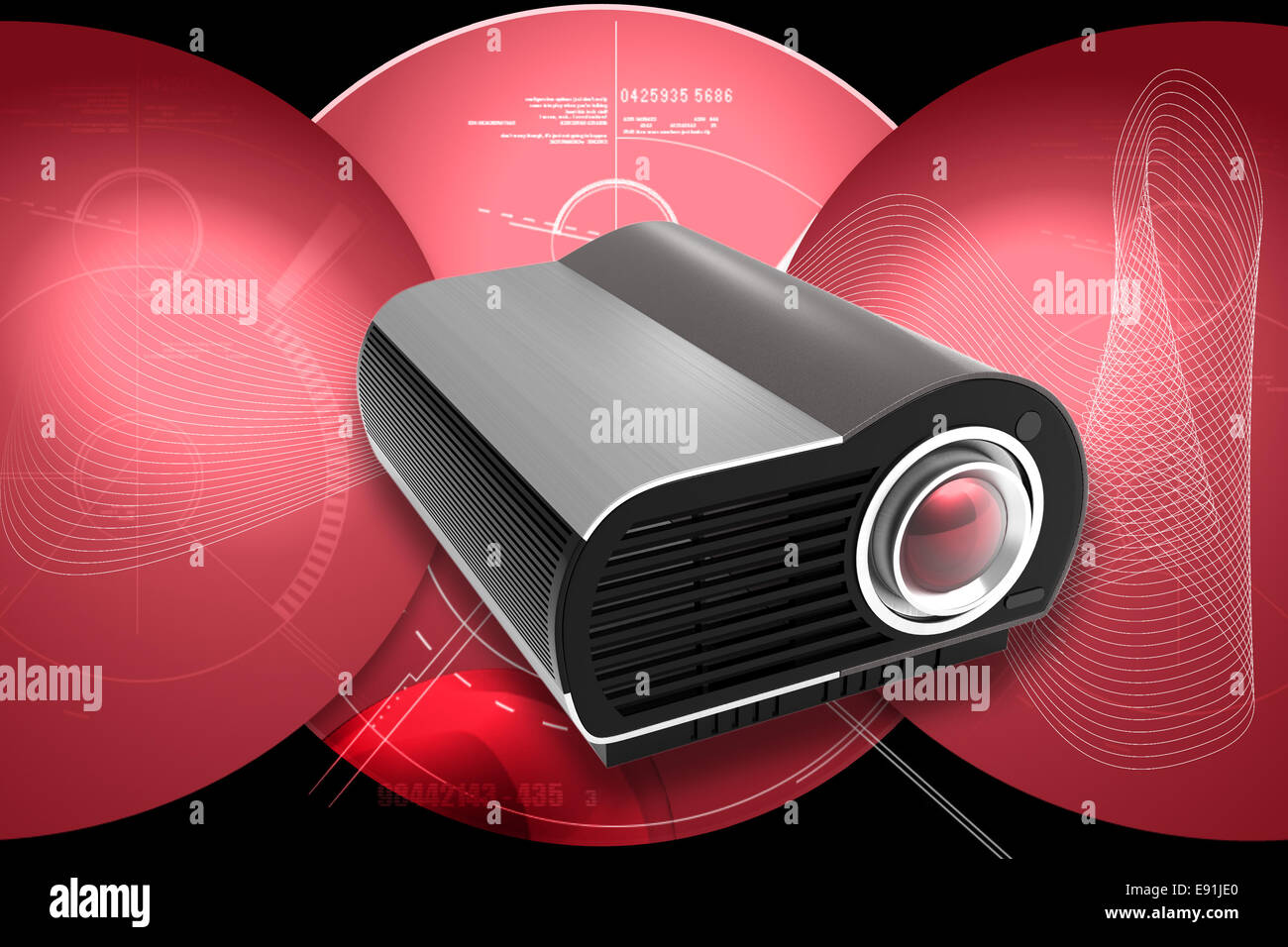 Multimedia Projector - Stock Image