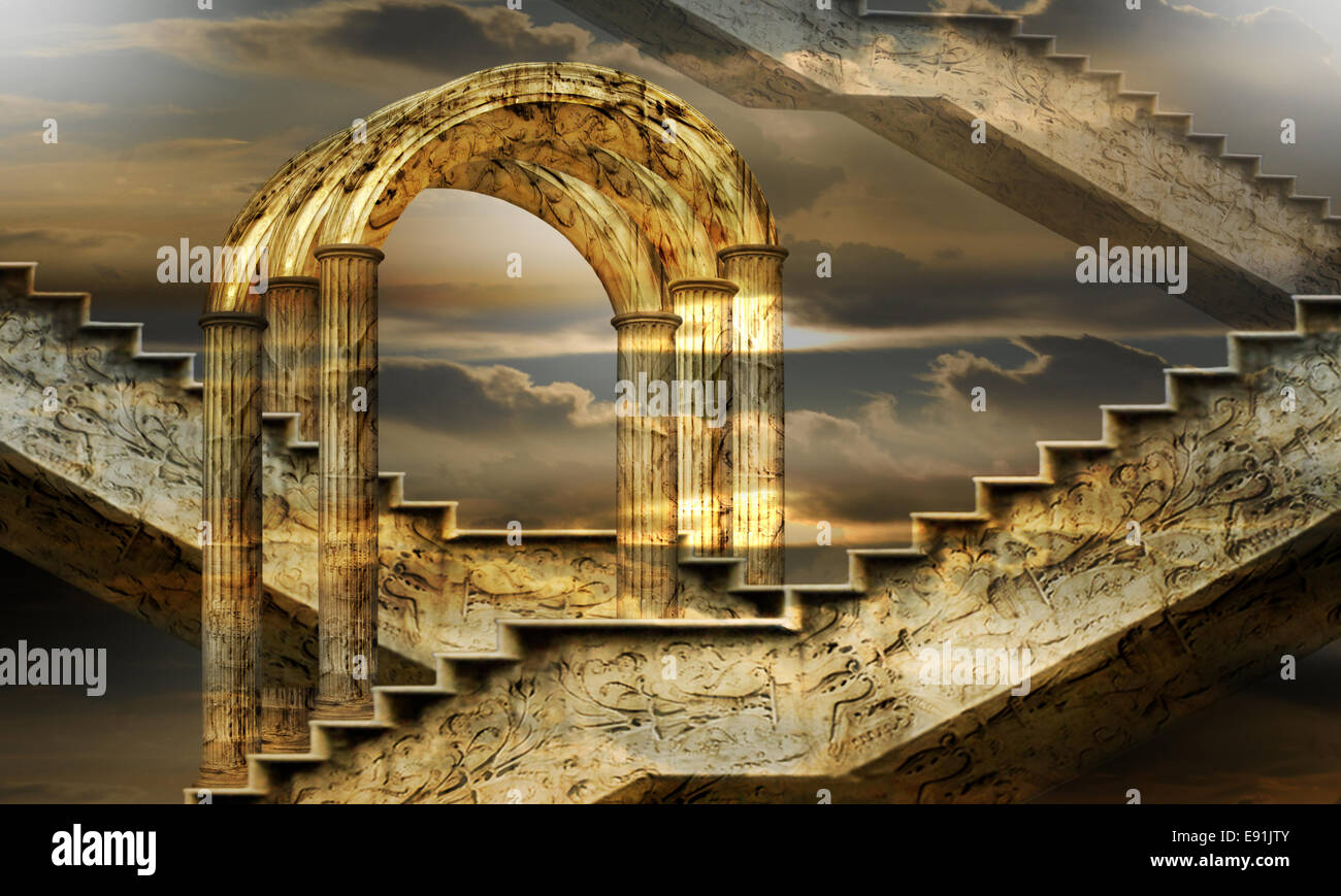 Arches of possibility - Stock Image