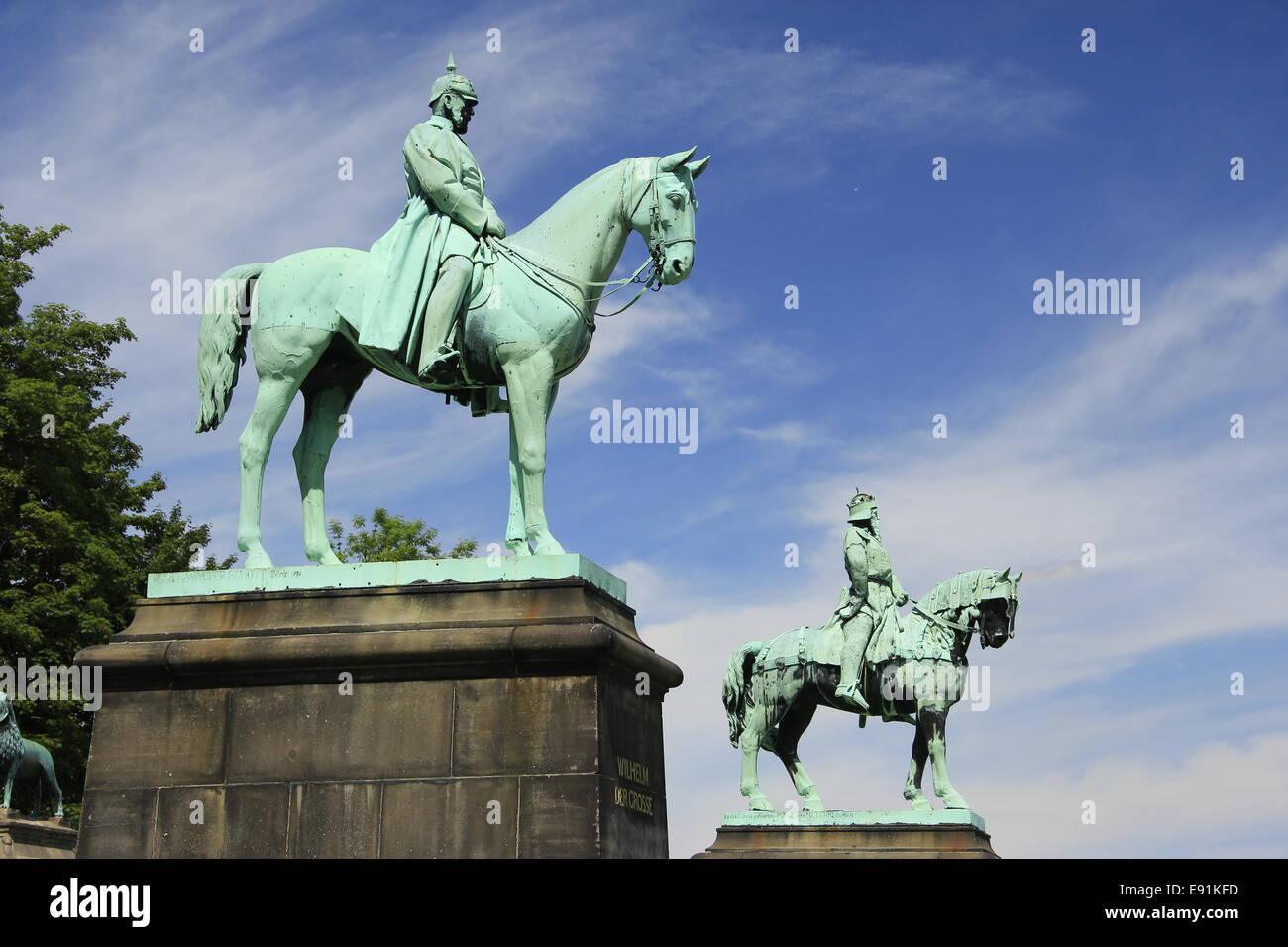 Emperor Wilhelm I and Barbarossa - Stock Image