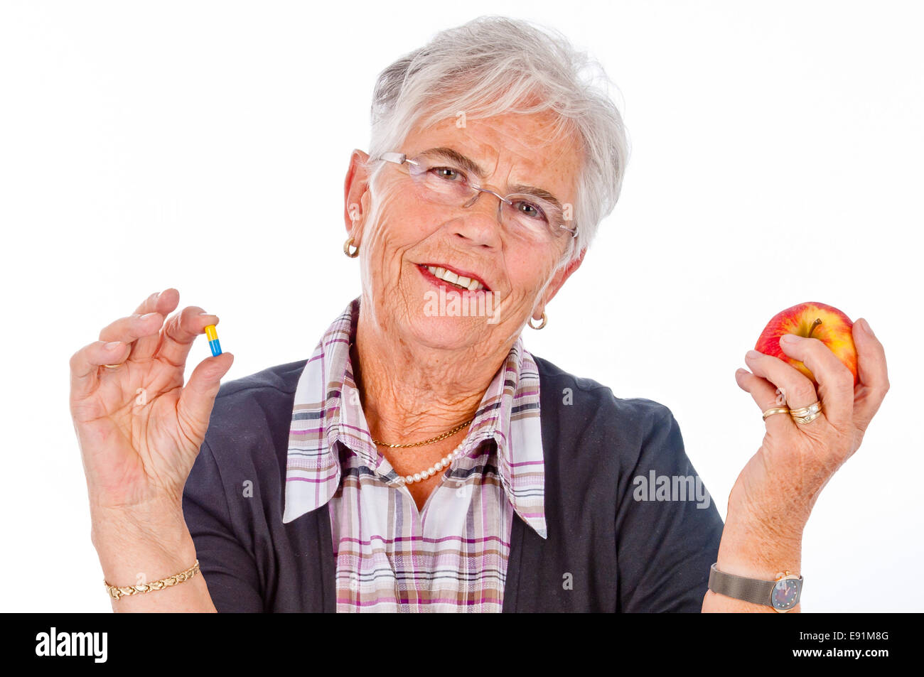 fruits or pills Stock Photo