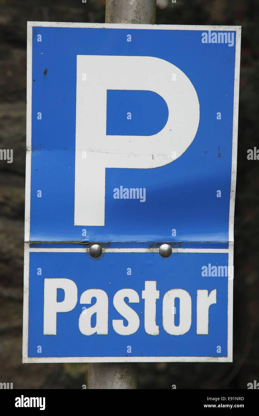 Parking Area for Pastors - Stock Image