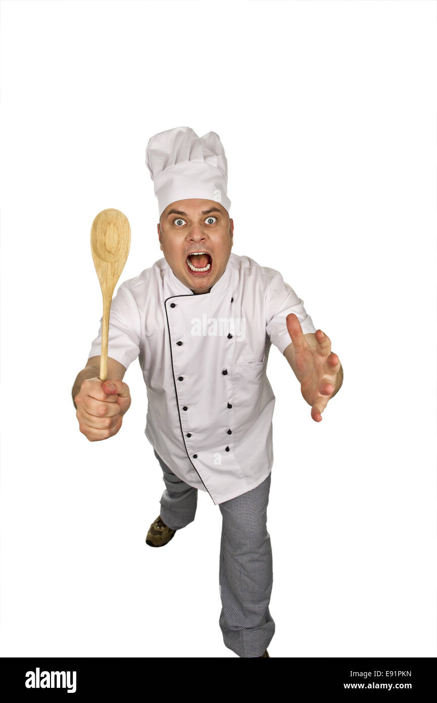 aggressive cooking - Stock Image