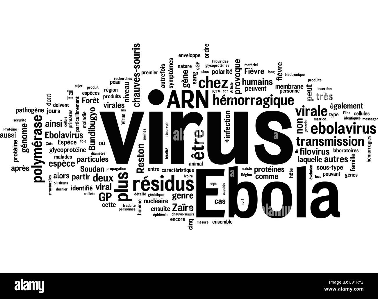 Ebola virus related concepts - Stock Image