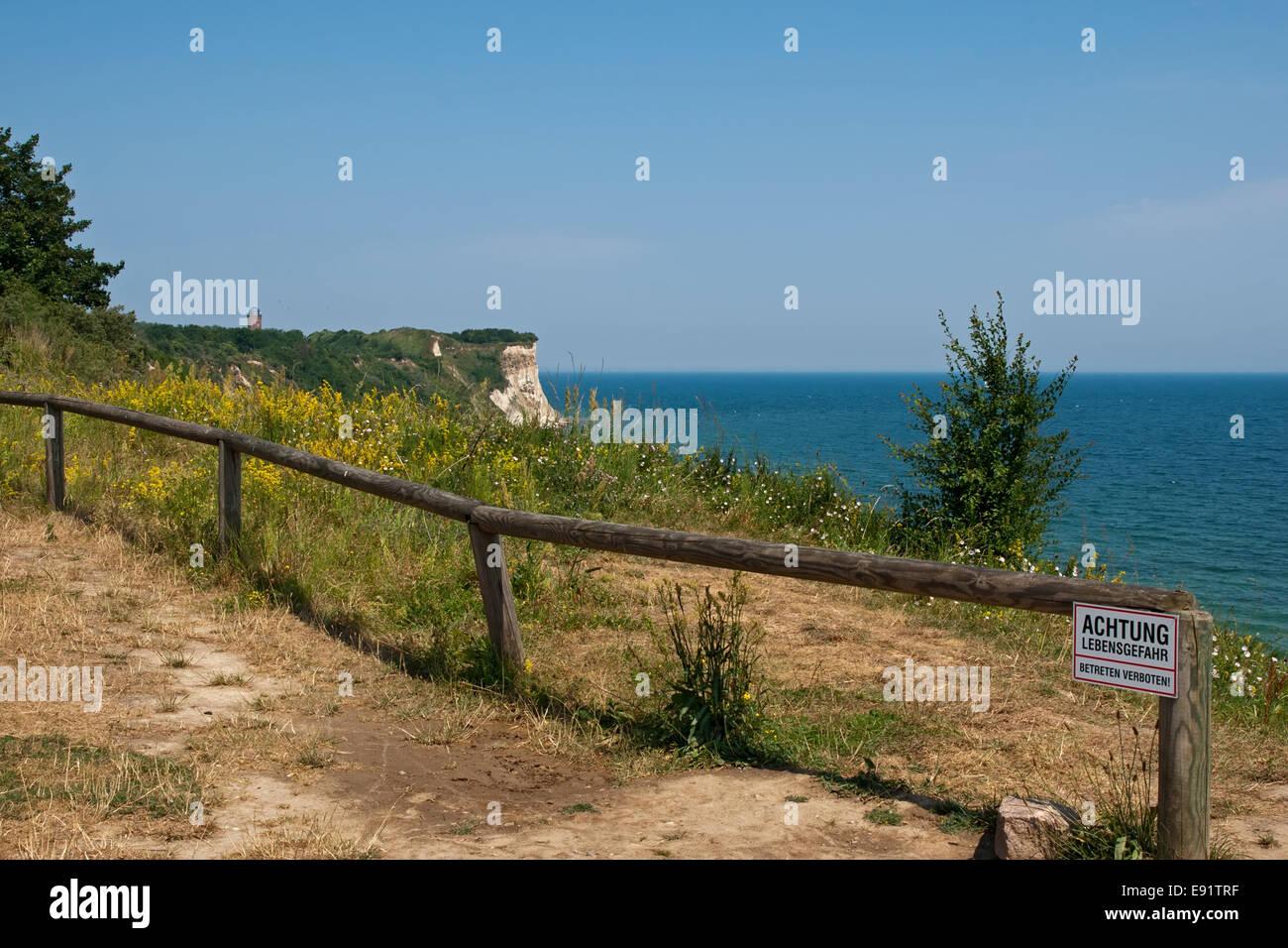 Cliffline Cape Arcona, Ruegen, Germany - Stock Image