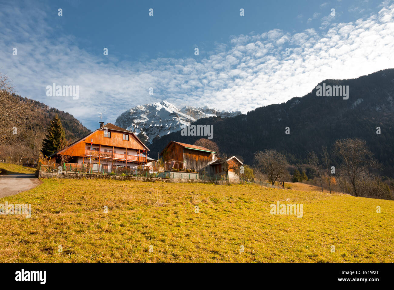 Alps Mountain Chalet H - Stock Image