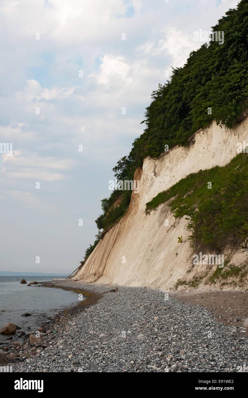The Cliffline near Sassnitz, Ruegen, Germany - Stock Image