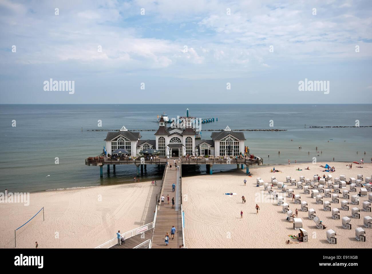 Pier of Sellin, Ruegen, Germany Stock Photo