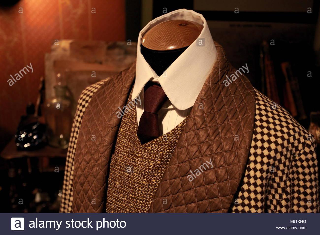 masculine tweeds - Stock Image