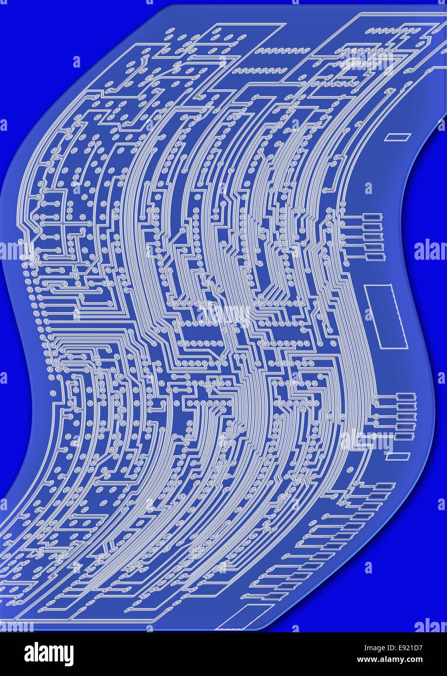 blueprint circuit board Stock Photo: 74418435 - Alamy