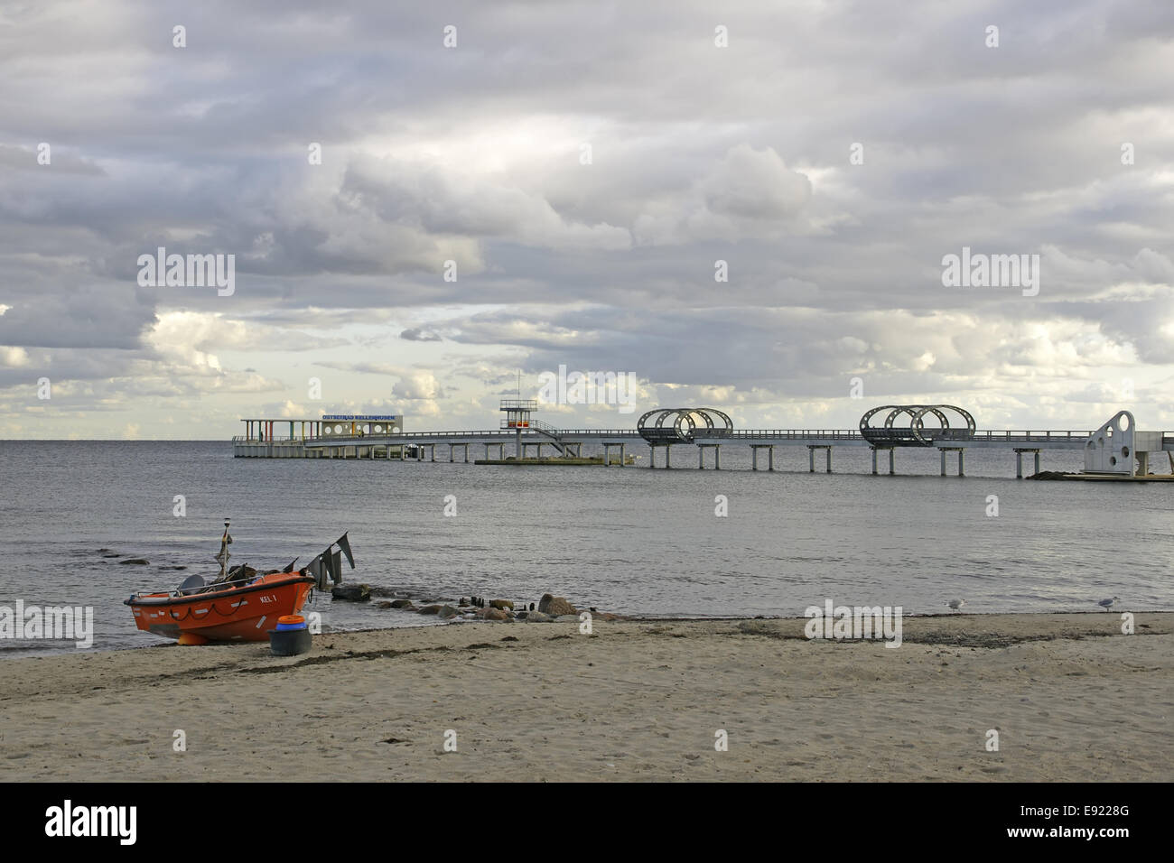 Pier in Kellenhusen, Baltic Sea, Germany Stock Photo