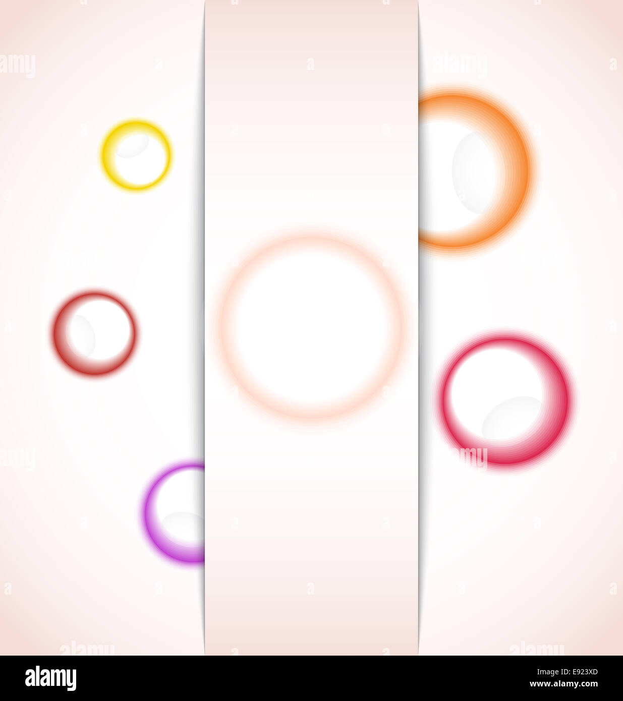 abstract background with multicolor bubble - Stock Image