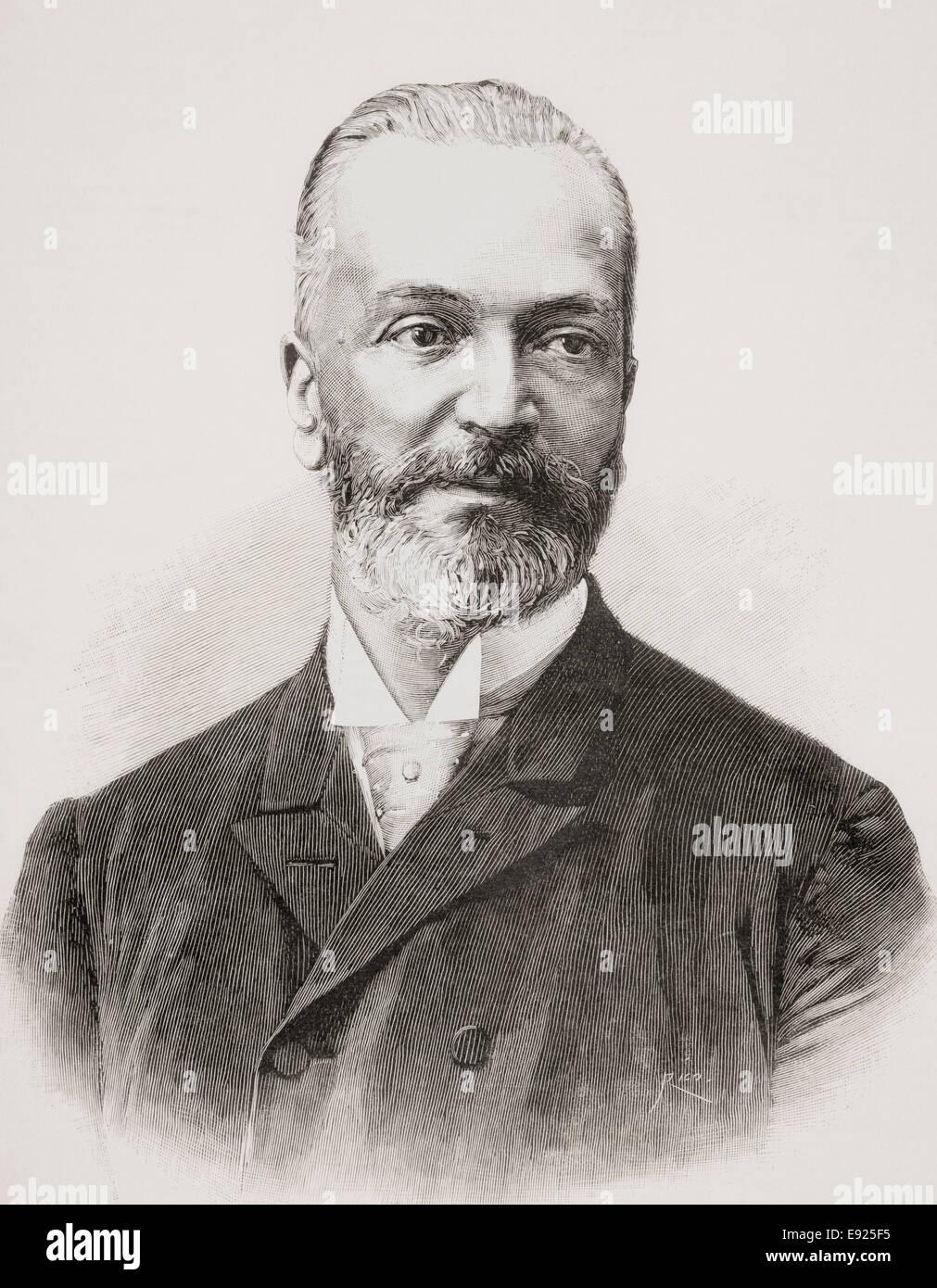 Antonio Sánchez Moguel,  1838 -1913.  Spanish philologist and historian. - Stock Image