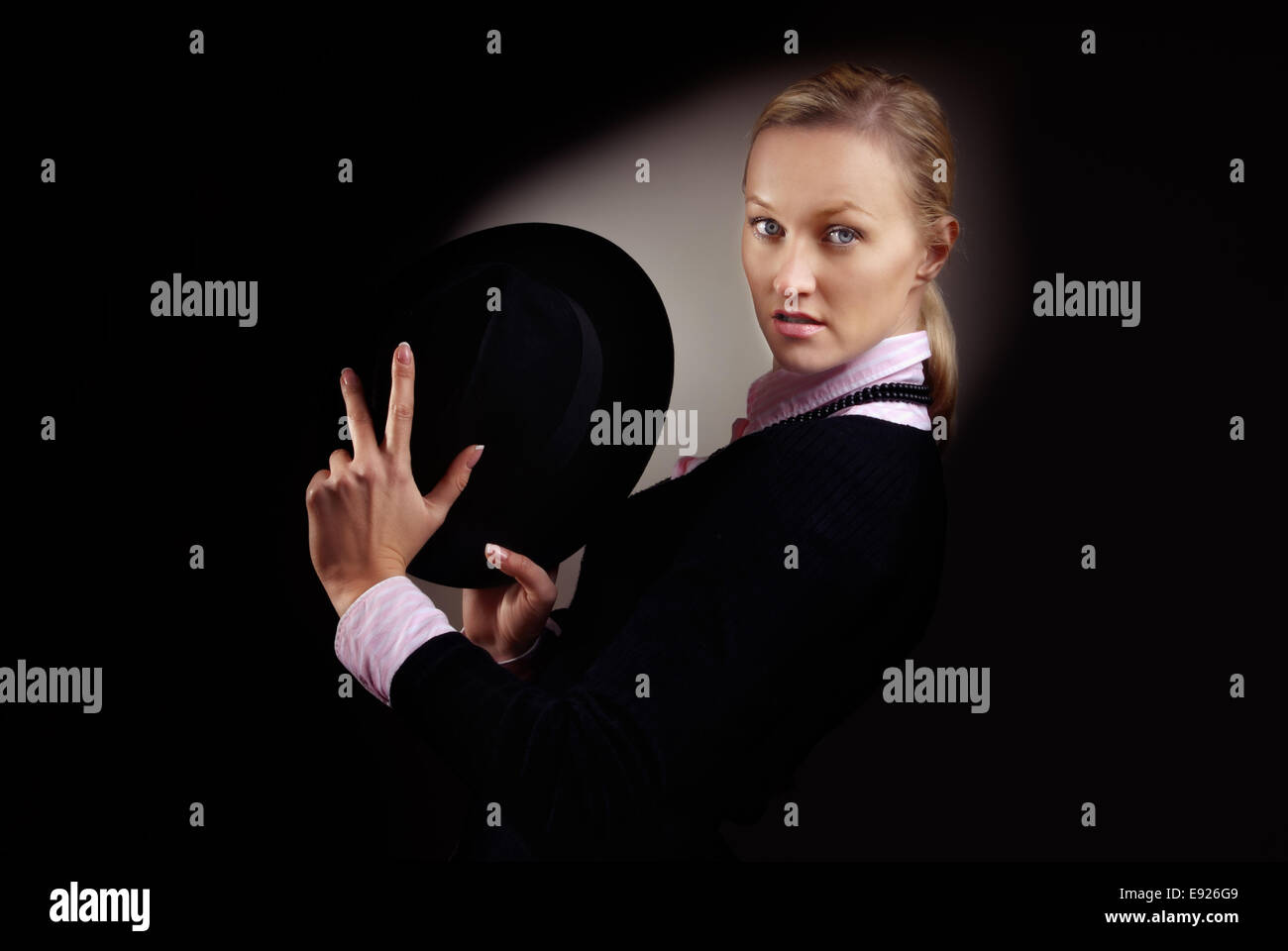 Female gangster - Stock Image
