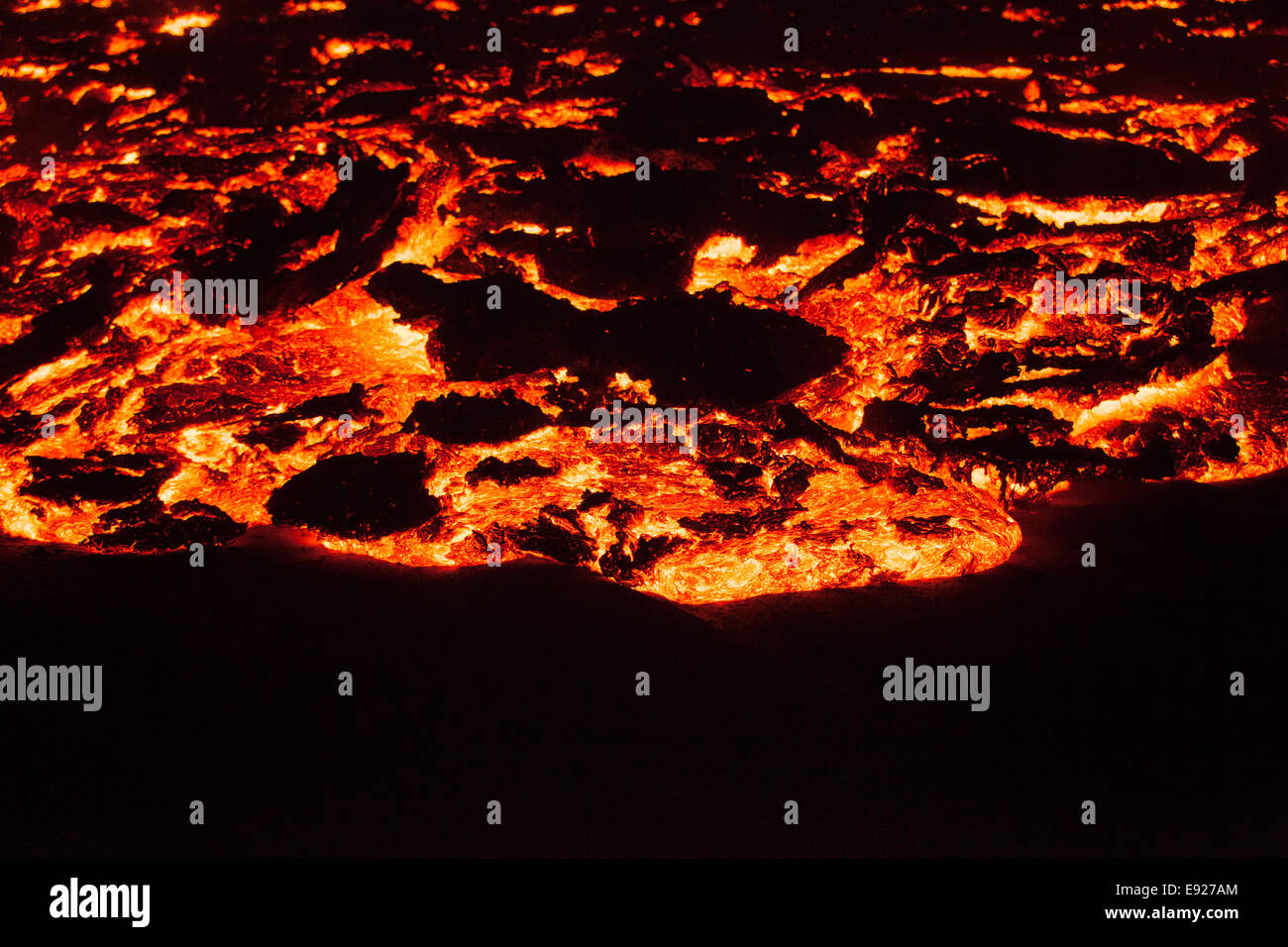 lava creep - Stock Image