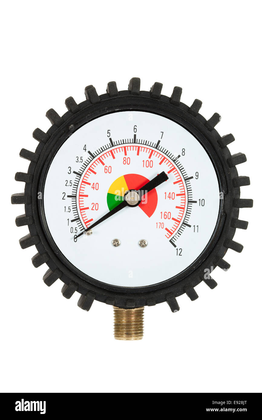Pressure meter (isolated) - Stock Image