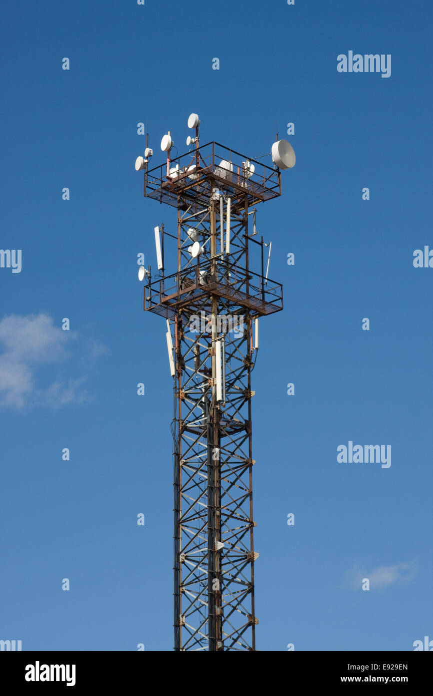 Aerials of mobile communication - Stock Image