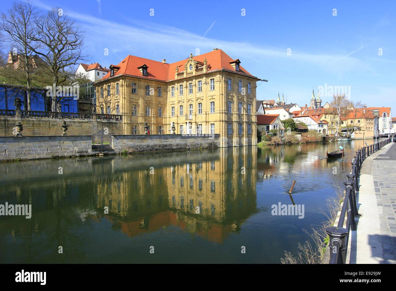 Water Castle Concordia, Bamberg, Bavaria - Stock Image