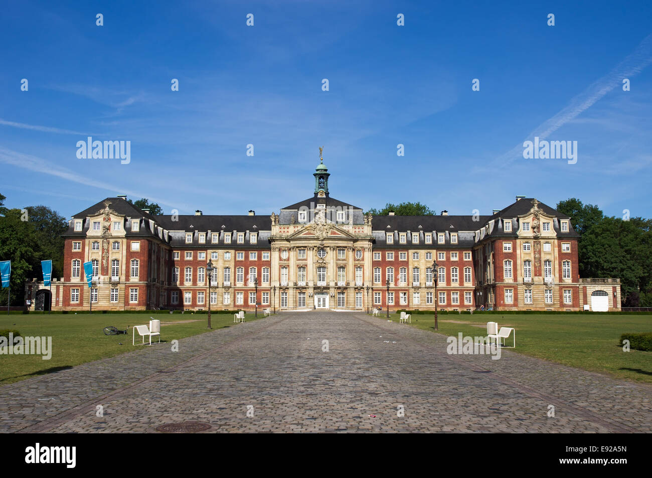 Castle of Muenster, Germany - Stock Image