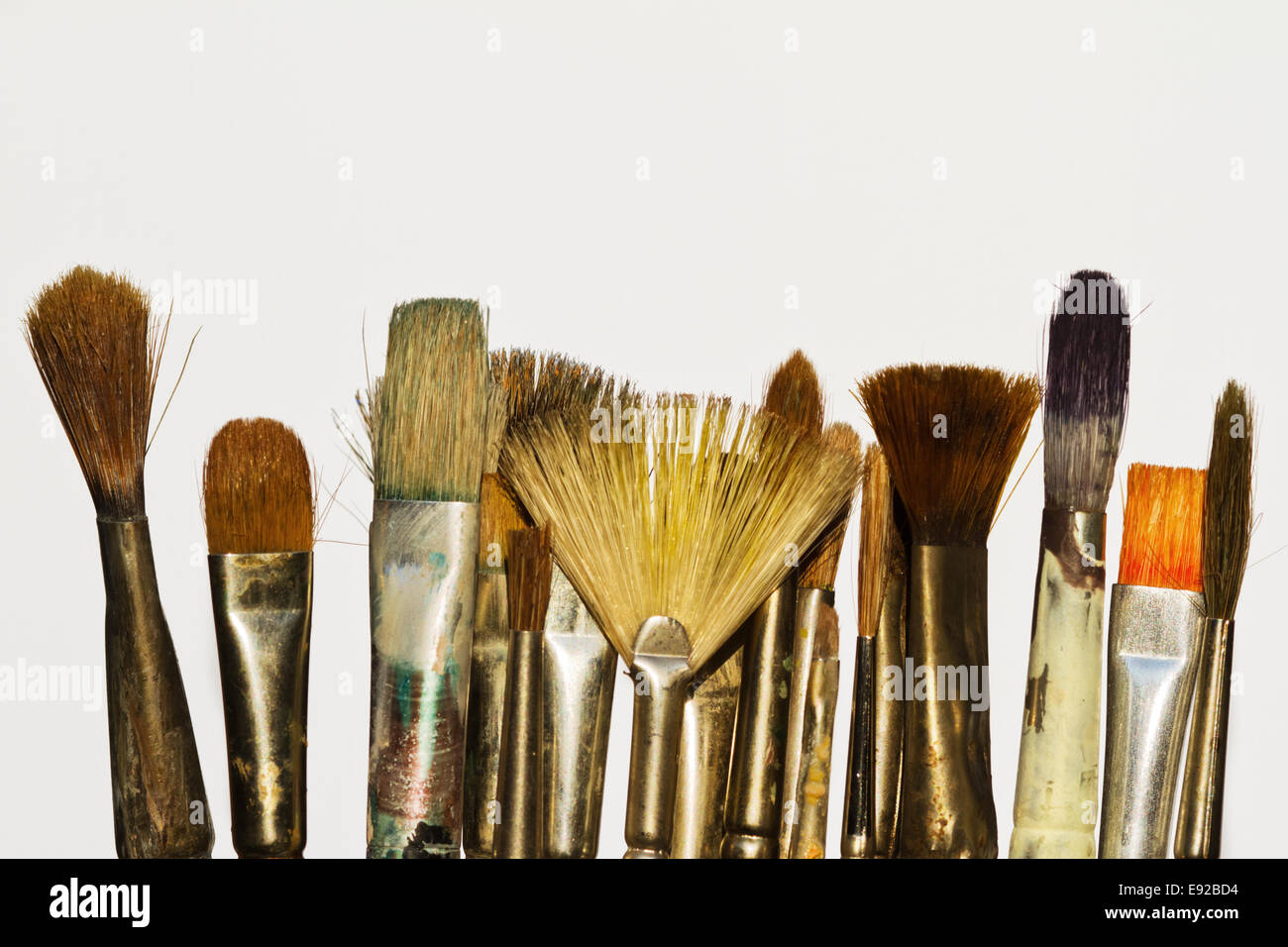 brush tips isolated on white background Stock Photo