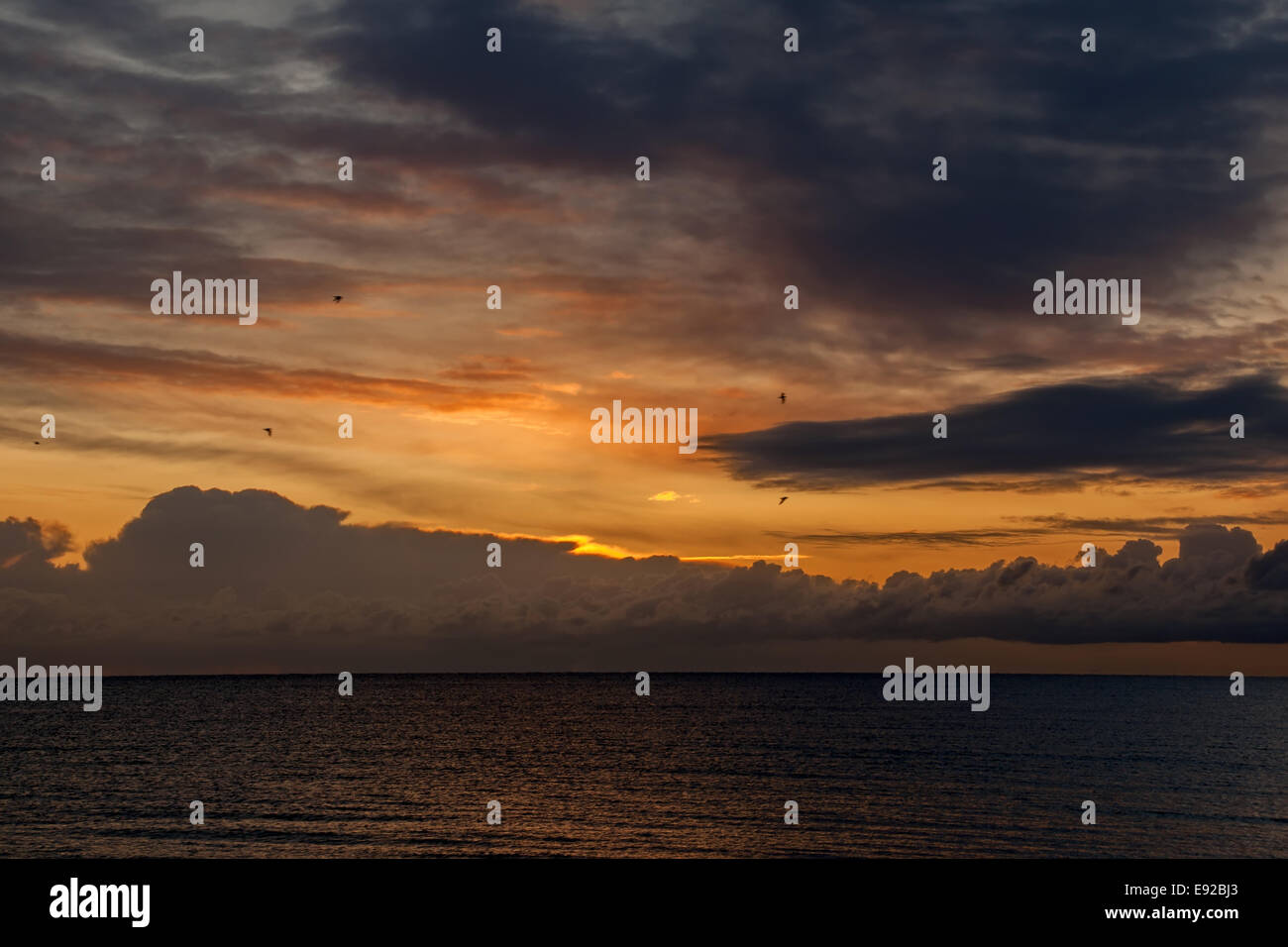 Morning spirit in Dahme, Baltic Sea, Germany Stock Photo