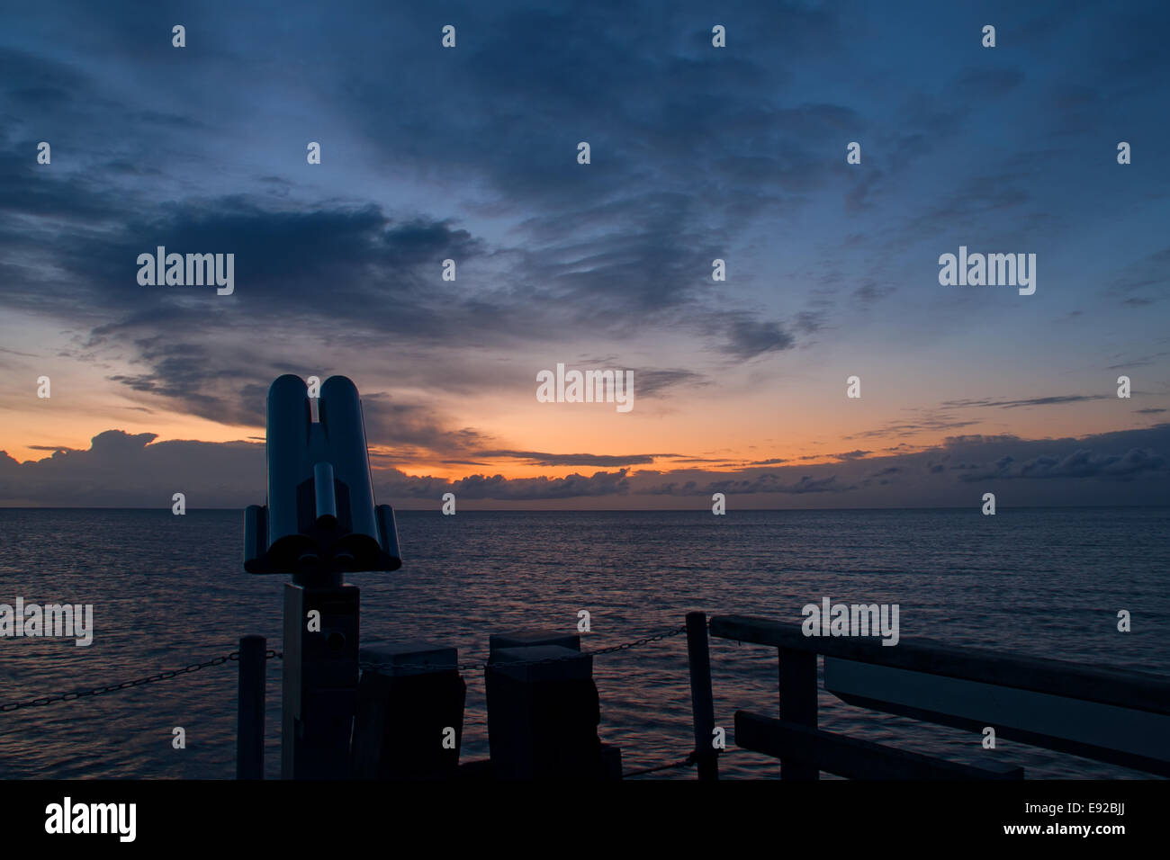 Morning spirit in Dahme, Baltic Sea, Germany Stock Photo