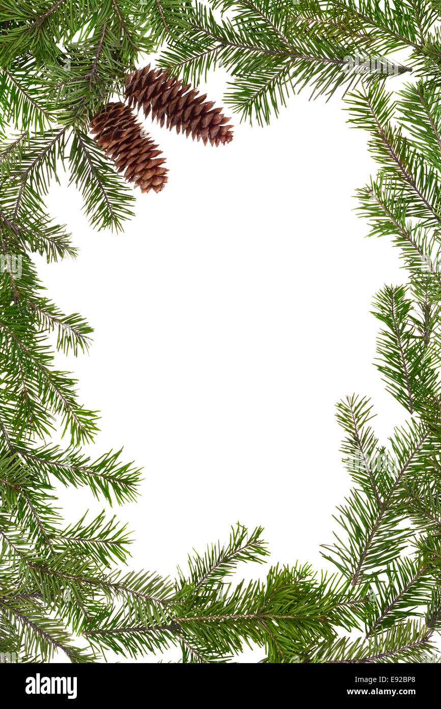 Christmas frame - Stock Image